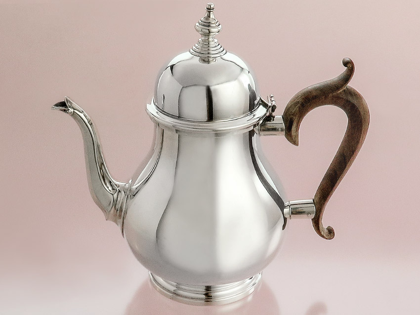 Kaffeekanne Silberkanne 925er STERLING Silber