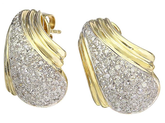 Ohrstecker Diamanten 585er Gelbgold