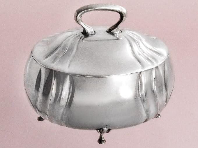 Silberdose Deckeldose Zuckerdose 800er Silber