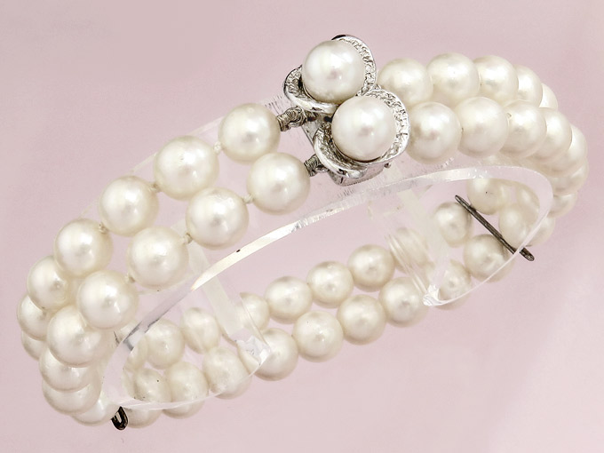 Pearl Bracelet 14 Karat White Gold