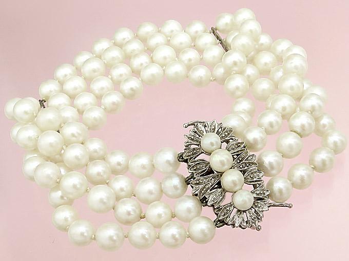 Pearl Braclet 18 Karat White Gold