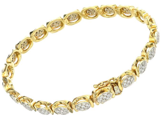 Bracelet Diamonds 18 Karat Yellow Gold Certificate