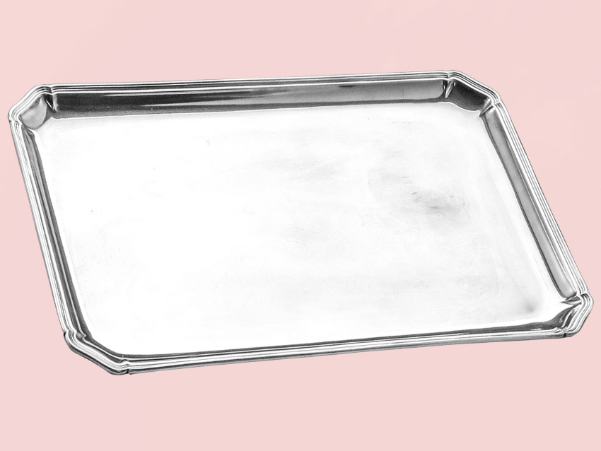 Silver Tray Chippendale Style Wilhelm Binder 800 Silver