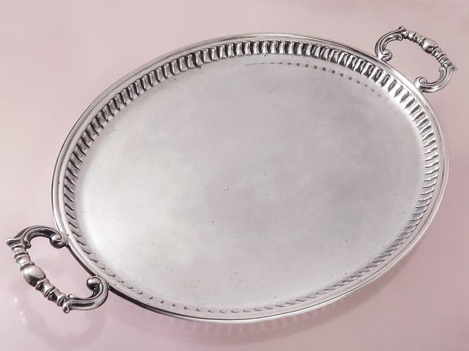 Silbertablett Italien 800er Silber