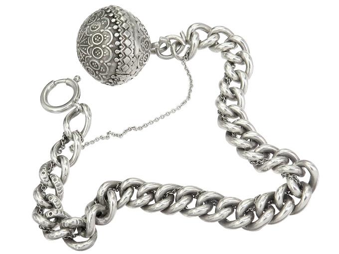 Charm Bracelet Sphere Silver