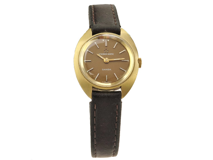 Eterna-Matic Sahida Damenuhr Gold um 1970 Vintage