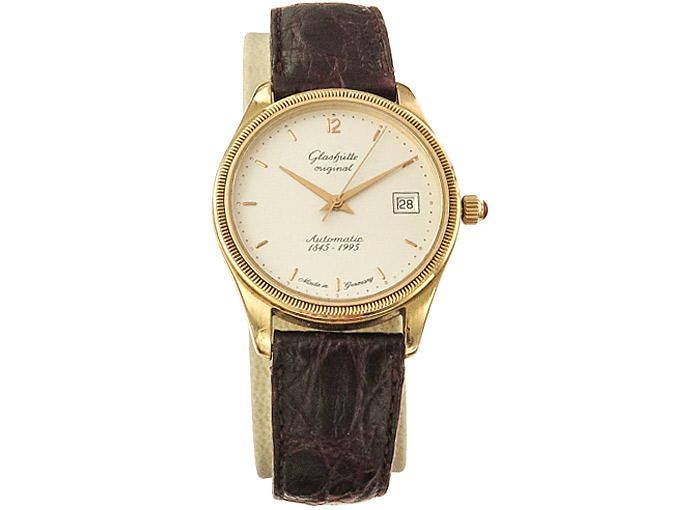 Glashütte Original 1845-1995 Jubilee Watch Gold Box Papers
