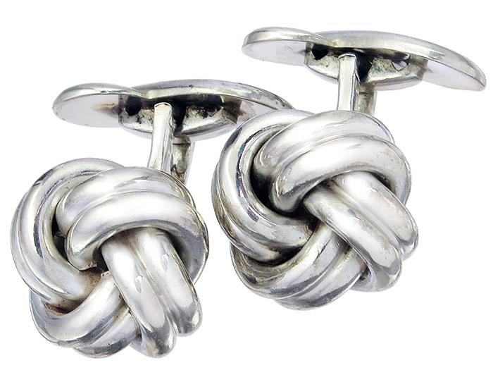 Cufflinks Double Knots 835 Silver