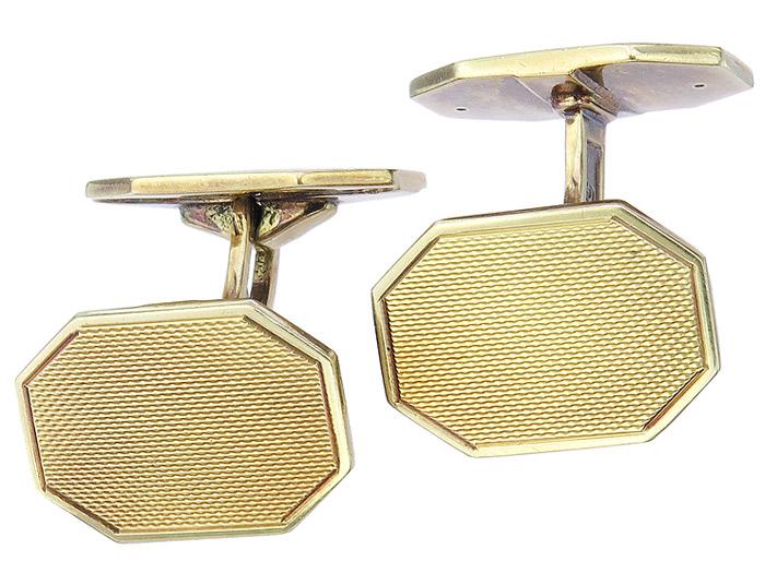 Manschettenknöpfe Art Deco 585er Gelbgold