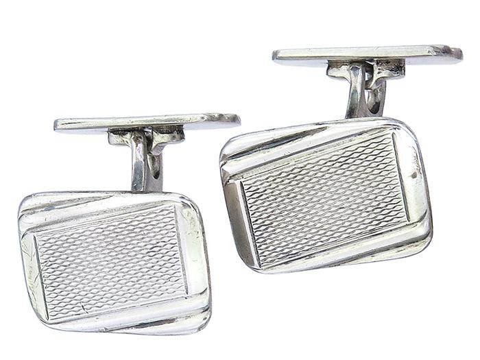 Manschettenknöpfe Art Deco 835er Silber ca. 1920-30