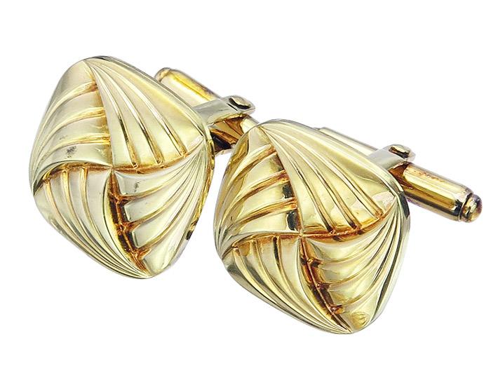 Manschettenknöpfe 585er Gelbgold