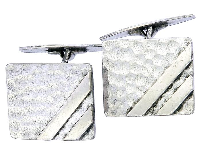Manschettenknöpfe Rechteckig 835er Silber