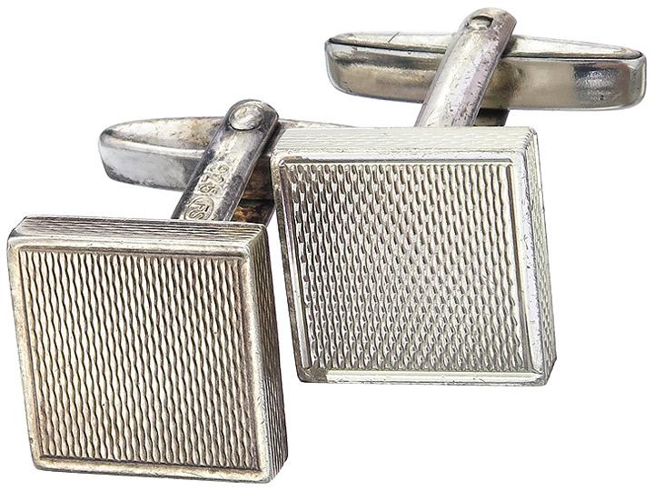 Manschettenknöpfe 925er Silber Retro 1940-50 FS