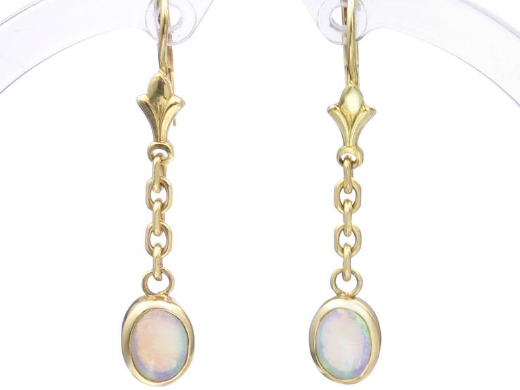 Ohrhänger Opal 585er Gelbgold