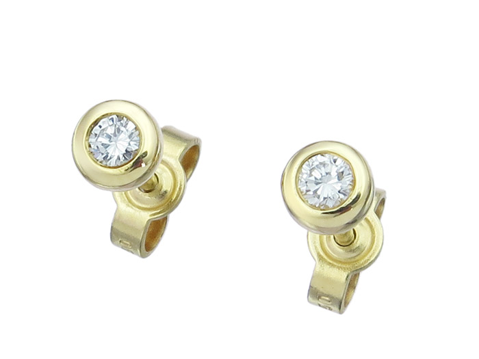 Earrings Diamond 18 Karat Yellow Gold