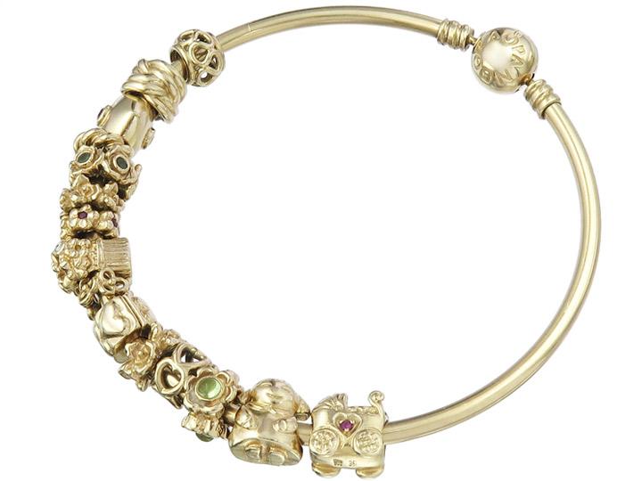 Pandora Armreif Charms 585er Gelbgold