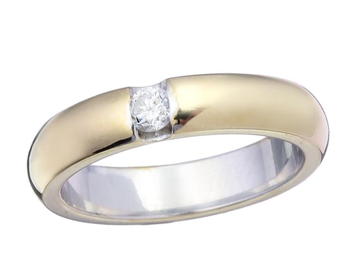 Solitaire Ring Diamond 14 Karat Gold
