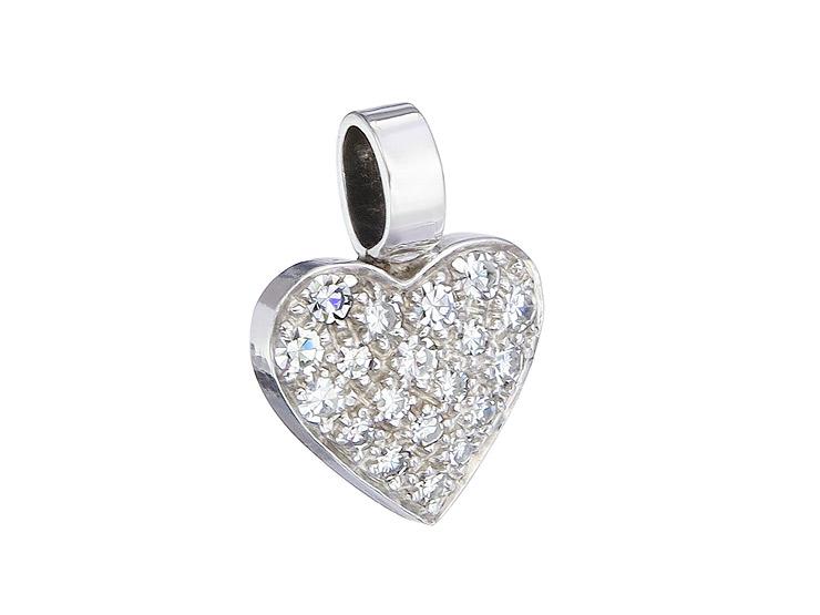Anhänger Herz Diamanten 585er Weißgold