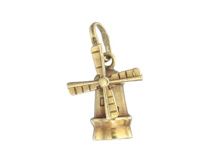 Anhänger Windmühle 585er Gelbgold