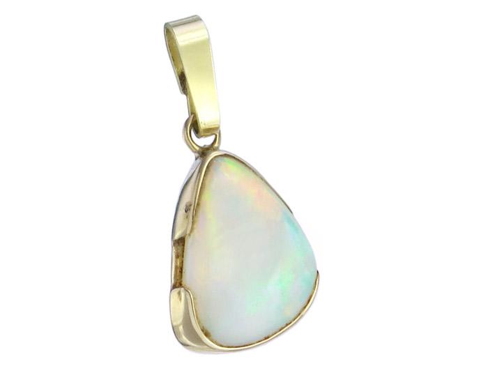 Anhänger Weißer Opal 585er Gelbgold