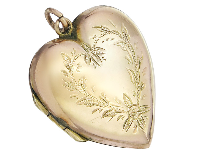 Pendant Heart Medallion Antique around 1900