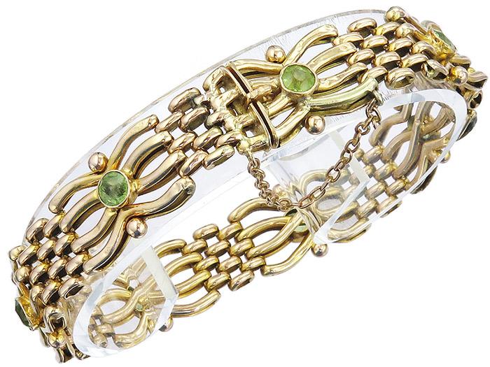 Armband Antik 625er Gelbgold England ca. 1910-20