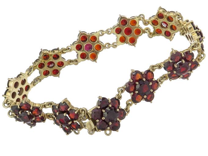 Armband Granat 333er Gelbgold