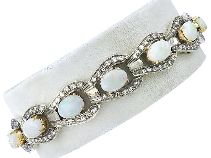 Armband Opale Diamanten 750er Gold