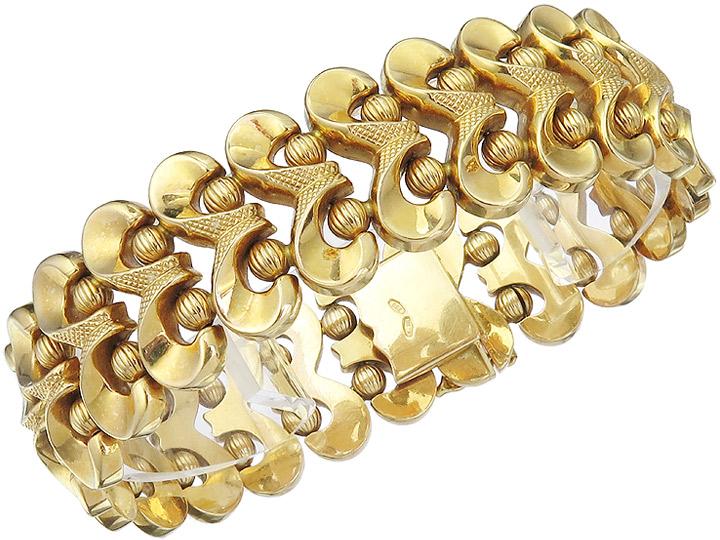 Armband Retro 750er Gelbgold ca. 1940-50