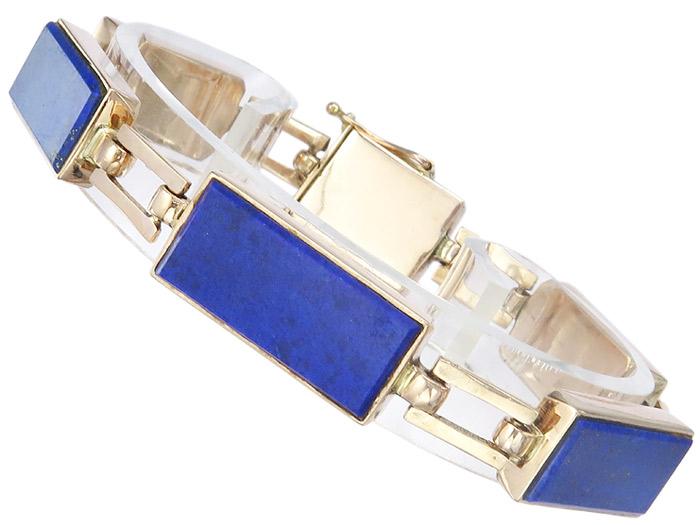 Armband Retro Lapislazuli 333er Rosegold