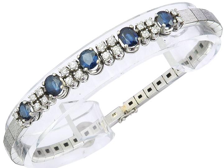 Armband Saphire Brillant 750er Weissgold