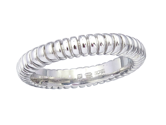 BRON Ring STAX 750er Weissgold