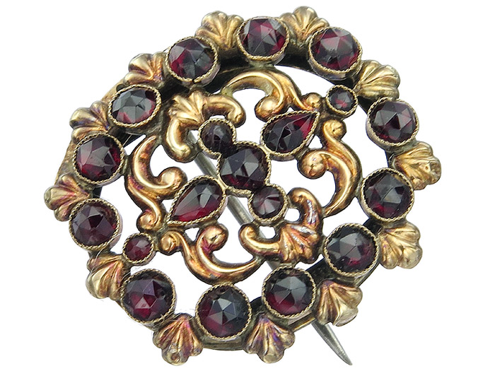 Brooch Colored Stones Antique