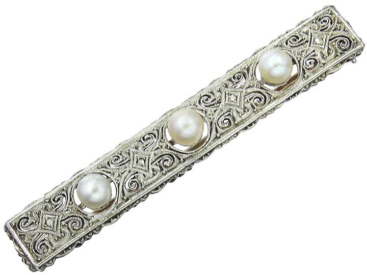 Brooch Art Déco 835er Silver