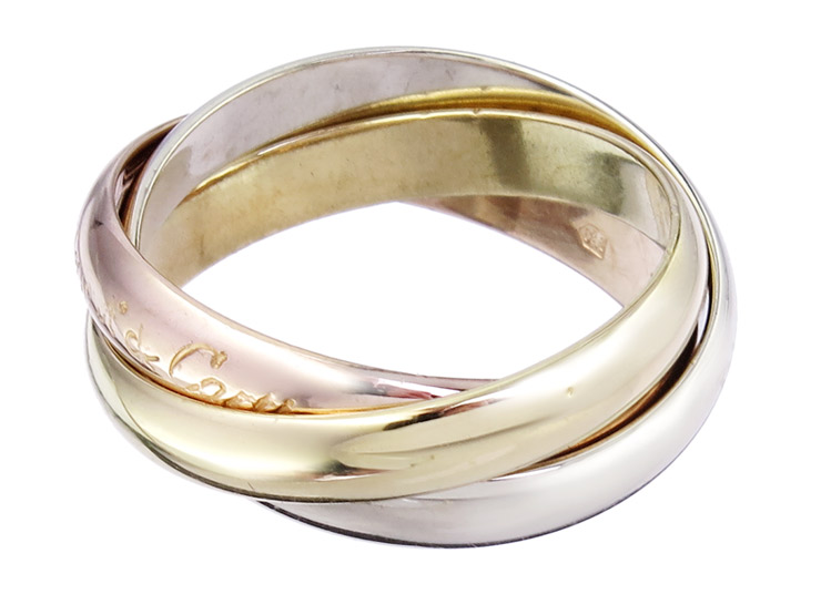 Cartier Ring TRINITY 18 Karat Gold Tricolor