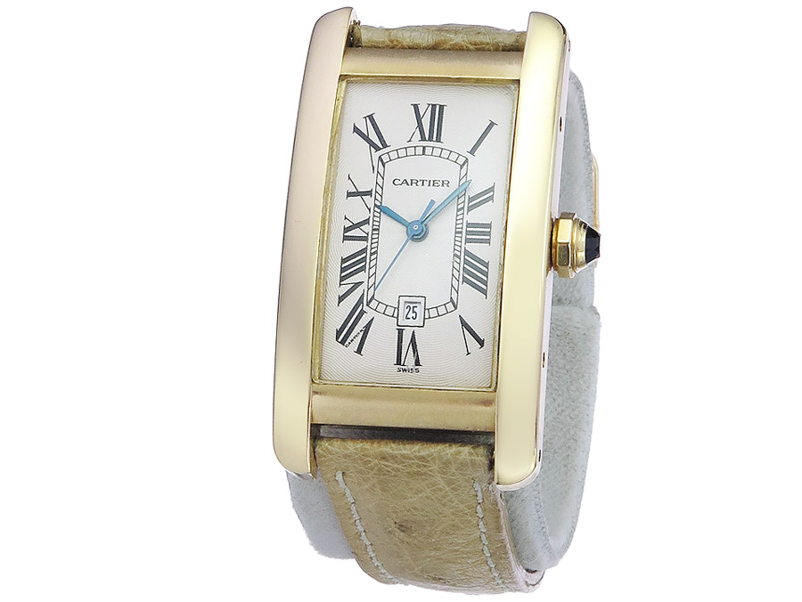 Cartier Tank Americaine Gold Box Papers
