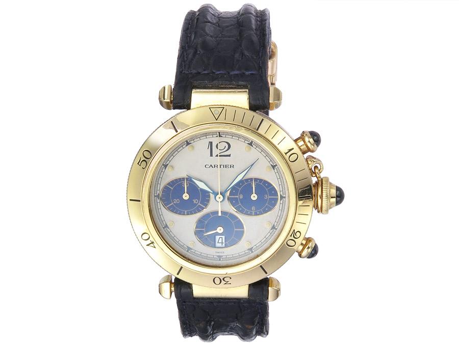 Cartier Pasha Chronograph Gold Papiere 1992