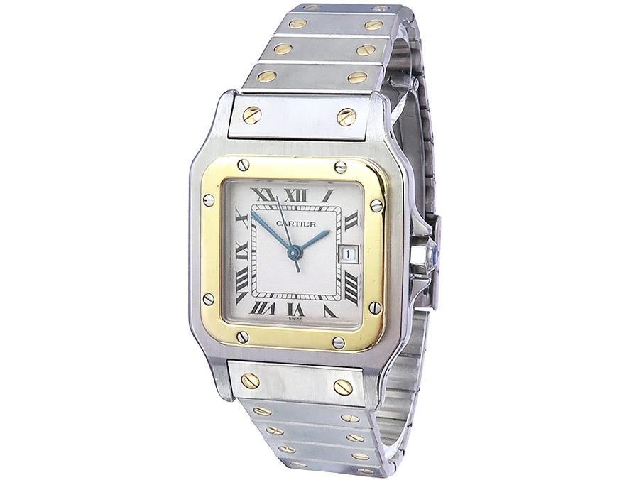 Cartier Santos Stahl Gold Herrenuhr