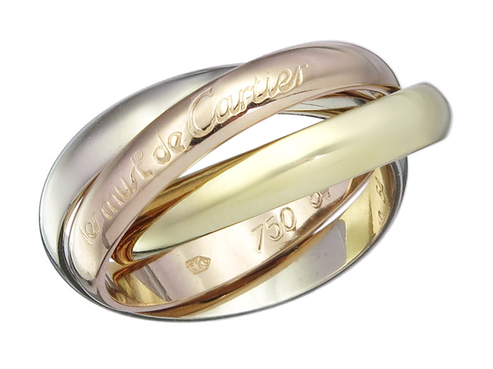 Cartier Ring TRINITY 18 Karat Tricolor