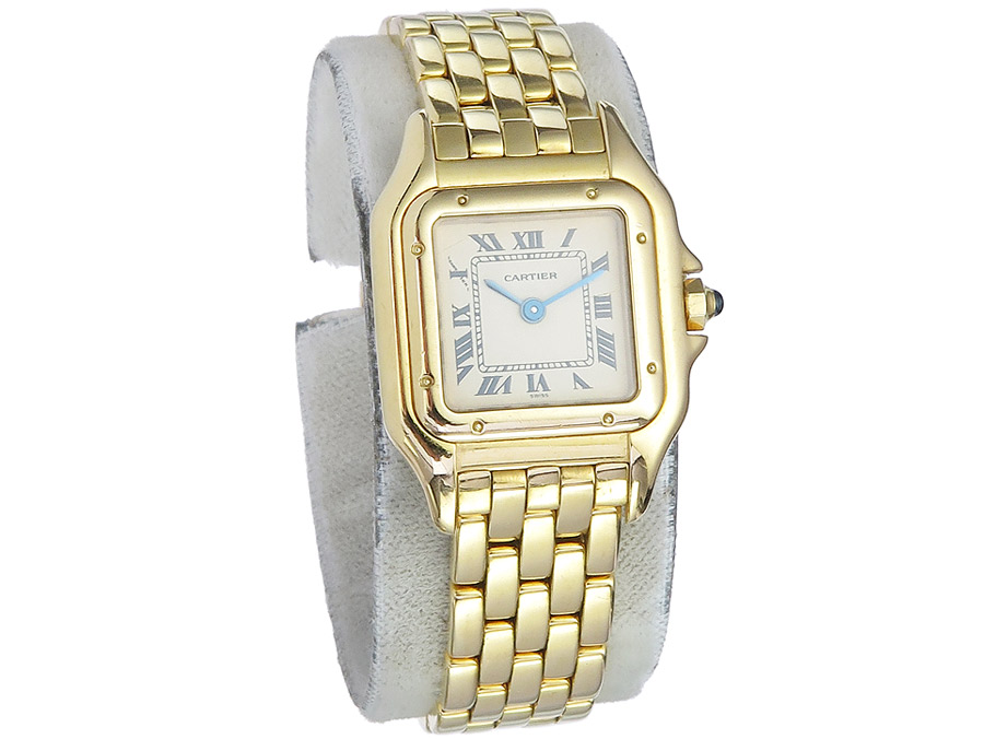 Cartier Panthere Damenuhr Gold Goldband Box Papiere