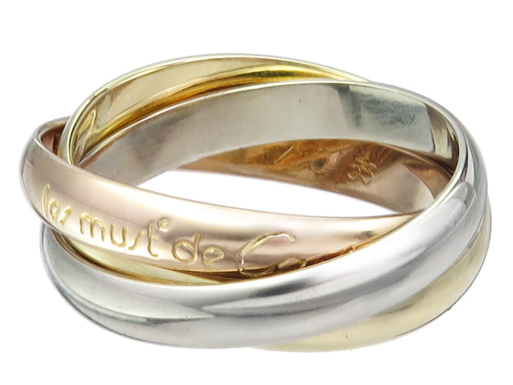 Cartier Ring TRINITY 750er Gold Tricolor