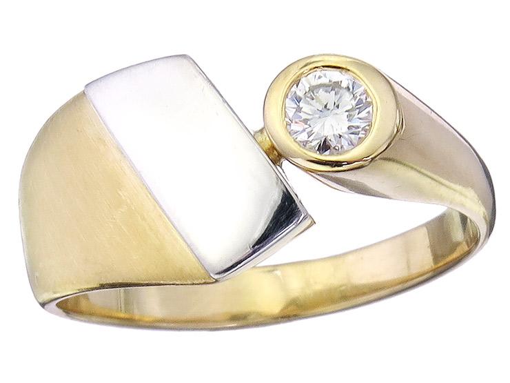 Cédé Solitär Ring Brillant 750er Gelbgold