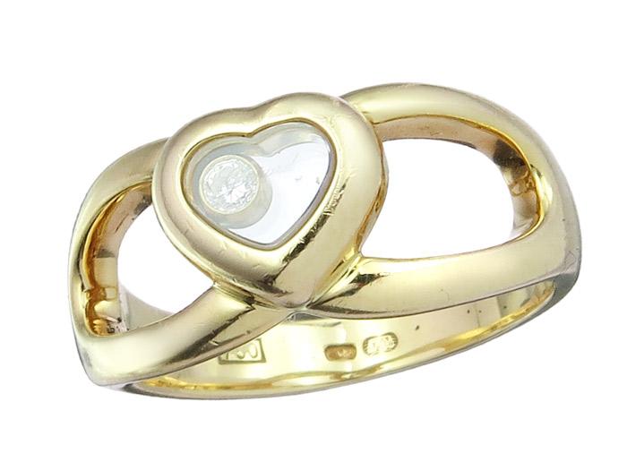 Chopard Ring HAPPY DIAMONDS Herz 750er Gelbgold Box