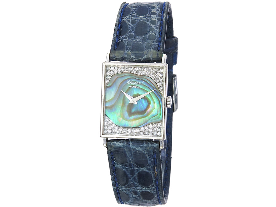 Chopard Wristwatch Whitegold Mother of Pearl Diamonds appr. 1975