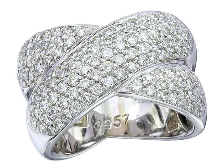 Christ Ring Diamonds 750er White Gold