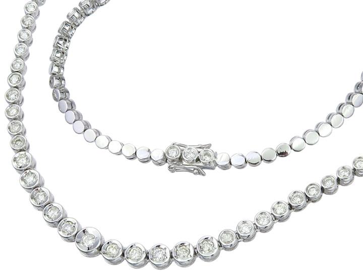 Collier Diamonds 18 Karat White Gold