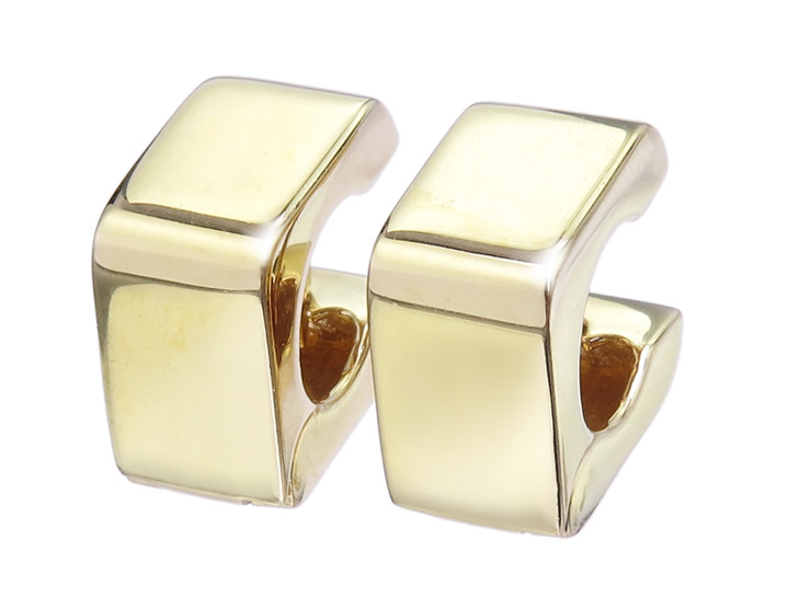 CRISO Square Hoop Earrings 18 Karat Yellow Gold