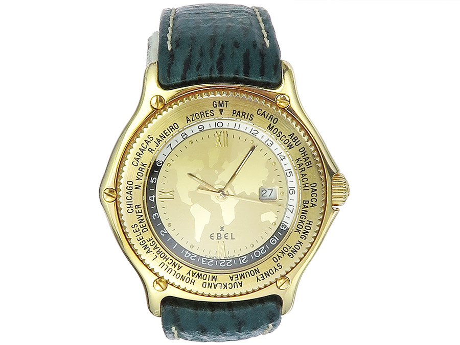 Ebel Voyager Worldtime Gold Box Papers