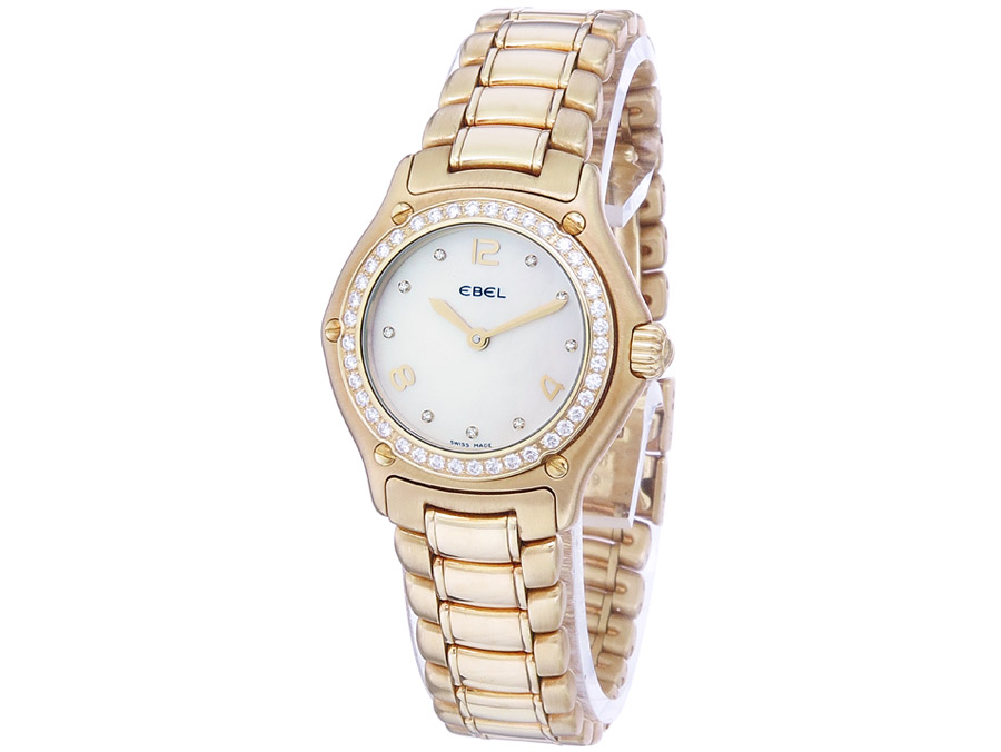 Ebel 1911 Lady Gold Diamonds Mother of Pearl Dial