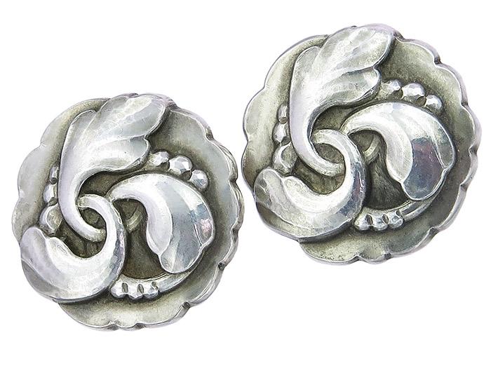 Georg Jensen Clip Earrings 925 Silver